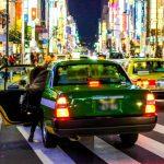 沖縄で折り紙タクシーに乗ることに